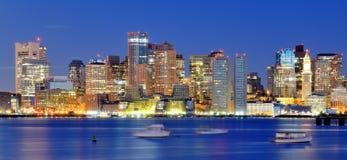 Boston Financial District Panorama Stock Image