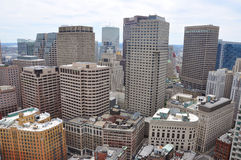 Boston Financial District Skyline Royalty Free Stock Images