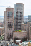 Boston Financial District Skyline Stock Image