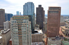 Boston Financial District Skyline Stock Images