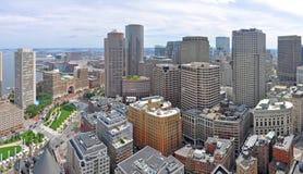 Boston Financial District Skyline, MA, USA Royalty Free Stock Image