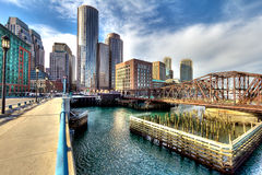 Boston-Finanzbezirk Lizenzfreie Stockbilder