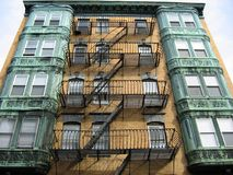 Boston, Fire Escape 02. This is an old fashioned fire escape found on a building in Boston's Beacon Hill, shot with a slightly different view Royalty Free Stock Images