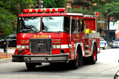 Boston Fire Truck Stock Photo