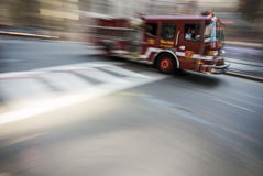 Boston fire truck high speed Royalty Free Stock Photo