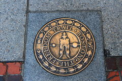 Boston - Freedom Trail. Boston  is the capital and largest city of the Commonwealth of Massachusetts in the United States. The Freedom Trail is a 2.5-mile-long ( Royalty Free Stock Photos
