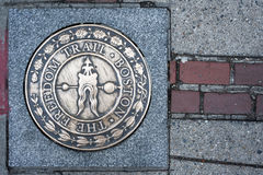 Boston Freedom Trail sign, Massachusetts Stock Photography