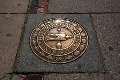 Boston the Freedom Trail sign, Massachusetts Stock Photo