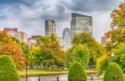 Boston gamla och moderna byggnader din vektor för horisont för bakgrundsstadsdesign Royaltyfri Bild