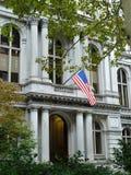 Boston gammal stad Hall Building Arkivfoton