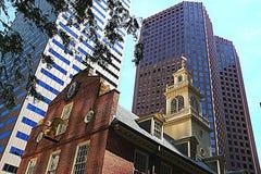 Boston - gammalt statligt hus Arkivfoton