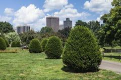 Boston Public Garden in Massachusetts. The beautiful Boston Public Garden in Massachusetts Stock Photography