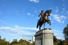 Boston George Washington Statue. Boston Massachusetts George Washington statue located in the Public Garden stock photo