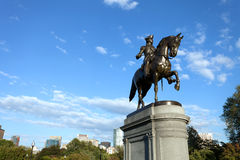 Boston George Washington Statue Stock Photo