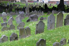 Boston Granary Burying Ground Royalty Free Stock Photos
