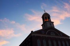 Boston Great Hall at dusk royalty free stock photo
