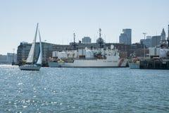 Boston-Hafen Stockfotos