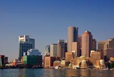 Boston-Hafen-Frontseite Stockbild