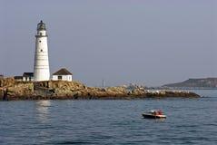 Boston-Hafen-Leuchtturm Stockfotografie