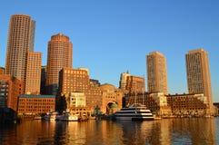 Boston-Hafen Panaroma Stockbilder