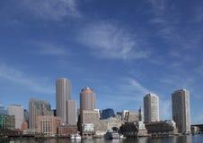Boston-Hafen-Skyline Stockfotos