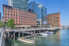 Boston-Hafen und Ufergegend Stockbilder