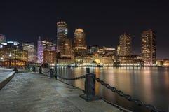 Boston-Hafen und Ufergegend Lizenzfreie Stockbilder