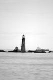 Boston-Hafenleuchtturm ist der älteste Leuchtturm in Neu-England Stockbilder