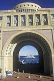 Boston hamnkomplex, Boston, Massachusetts Fotografering för Bildbyråer