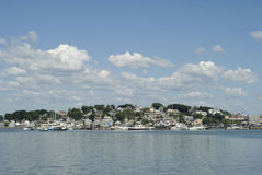 Boston Harbor. Summer Ships at Boston Harbor royalty free stock image