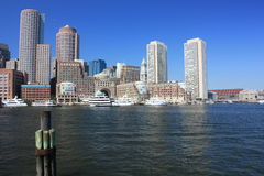 Boston Harbor. During the summer Royalty Free Stock Photo