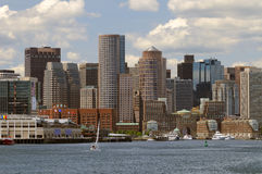 Boston Harbor and Cityscape Royalty Free Stock Image