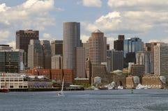 Boston Harbor and Cityscape royalty free stock image