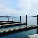 Boston Harbor. Harbor View scene stock photo