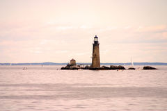 Boston Harbor lighthouse is the oldest lighthouse in New England Stock Image