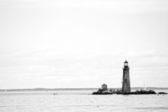 Boston Harbor lighthouse is the oldest lighthouse in New England. Stock image of Boston Harbor lighthouse is the oldest lighthouse in New England royalty free stock image