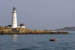 Boston Harbor Lighthouse Stock Photography