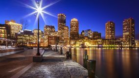 Boston Harbor in Massachusetts Stock Photo
