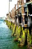 Boston Harbor. Pier supports in Boston harbor Royalty Free Stock Photography