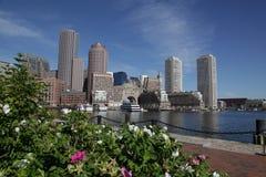 Boston harbor skyline Stock Photos