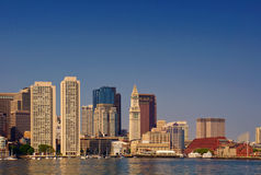 Boston Harbor Skyline Stock Photos