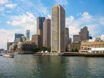Boston harbor skyline Stock Images