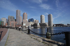 Boston harbor skyline panorama Royalty Free Stock Photography