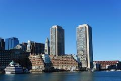 Boston harbor skyline Royalty Free Stock Images