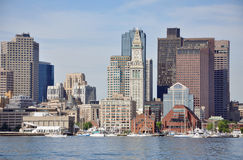 Boston Harbor Skyline, USA Stock Image
