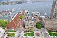 Boston Harbor and Waterfront Stock Photo