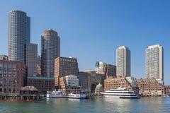 Boston harbor and waterfront Royalty Free Stock Photo