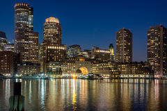 Boston harbor and waterfront Stock Image