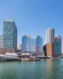 Boston harbor and waterfront Royalty Free Stock Images