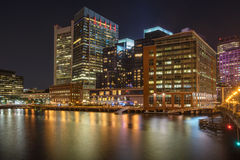 Boston harbor and waterfront Royalty Free Stock Image